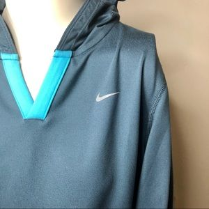 Nike Sweatshirt/Hoodie Gray/Green/Aqua Size M